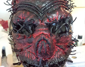 Latex skull devil demon facemask! Thick, scary creepy and awesome...great detail!