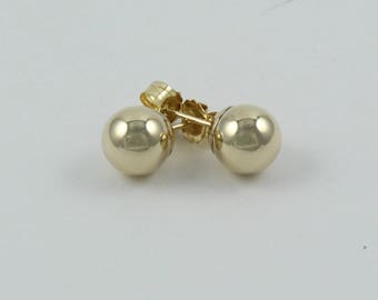 14K gold stud earrings | Ball gold studs | 14K ball earrings | Small ball studs | Small ball earrings | Women gold studs | Girls gold studs