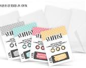 4 minis cartes à gratter personnalisables pour une annonce grossesse , heureux évènement, demande à la marraine, au parrain