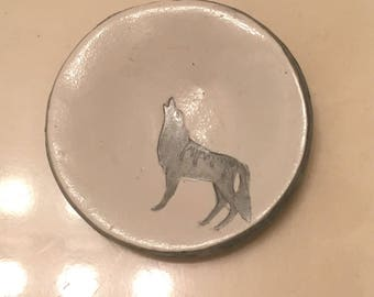 Howling Wolf Ring Dish