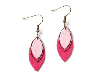 Pia pink earrings