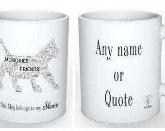 EmsiLou ANIMAL Typography MUG (personalised)
