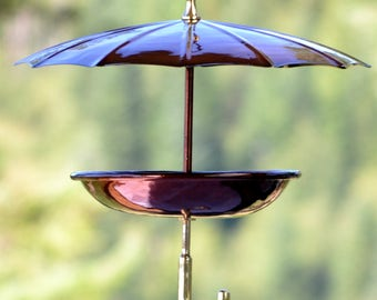 H Potter Steel Umbrella Bird Feeder