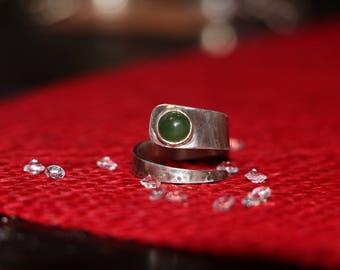 """""""Jade spiral"""" ring"""
