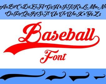 Baseball font SVG TTF, baseball alphabet svg, svg files, dxf, cricut, silhouette cutting file, instant download