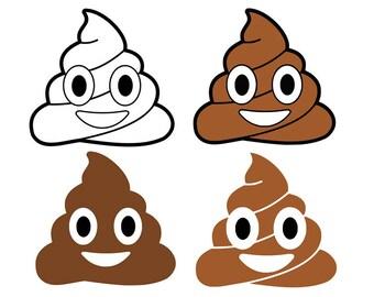 Poop emoji svg, poop svg, emoji svg, svg, dxf, cricut, silhouette cutting file, download, svg files