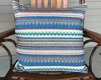 """20x20"""" pillow cover made from vintage textile"""