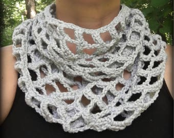 Crochet Pattern- Windowpane Scarf/ Cowl