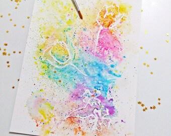 Magic Garden Wall Art, Watercolor Painting, Flower Painting, Garden Wall Art, Flower Wall Art, Flower Art Print, Printable Wall Art