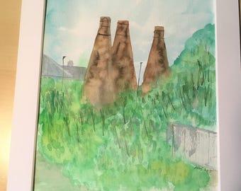 The 3 Sisters, Bottle Kilns, Burslem, Stoke on Trent