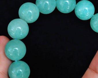 232.9CT Natural Amazonite Bead Bracelet BASb197