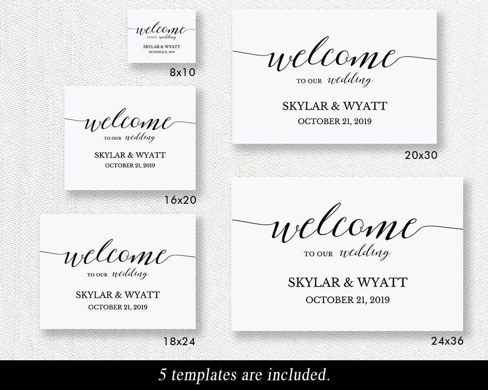 Welcome Wedding Sign Printable Template