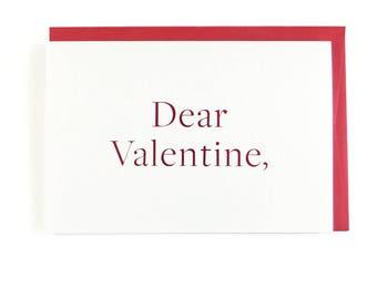 Dear Valentine Card