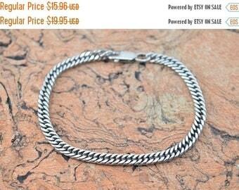 BIG SALE On Sale Curb Chain Bracelet Sterling Silver 7.4g