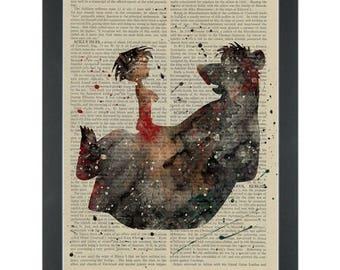 The Jungle Book Dictionary Art Print