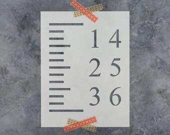 Growth Chart Stencil - Reusable DIY Craft Stencils of a Growth Chart - DIY 6 Foot Ruler Stencil Set