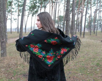 Warm, effective, soft, light, very comfortable shawl