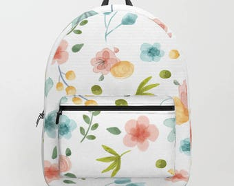 Back To School Backpack in Flower Bed Pattern by Marmalade June