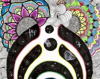 Bassnectar Mandala Print