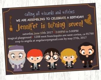 Harry Potter Birthday Invitation,Train ticket, little boy birthday, little girl, custom birthday invitations, DIGITAL & PRINTABLE