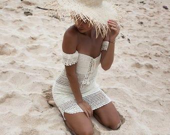 Boho Crochet Dress | Hippie Bohemian Dress Style | Sexy Crochet Mini Dress | Gypsy Style | Festival Dress
