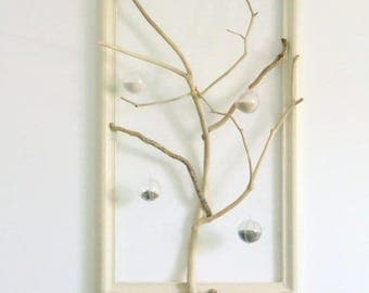 Tree of life Driftwood - sand and shells - painting - original sculpture - unique creation