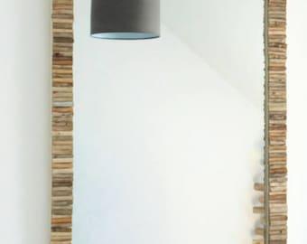 Mirror Driftwood - 78 x 58 cm - unique design - extra large - rectangle