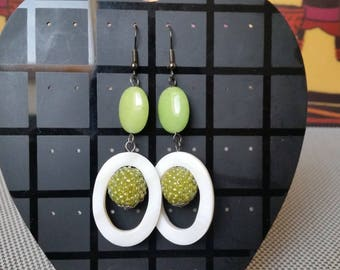 brisbane seed beads earrings