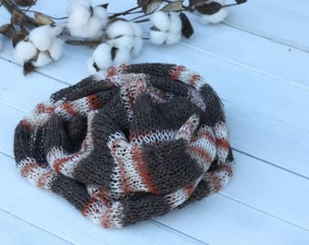 Striped Knitted Wrap, New Born Knit wrap