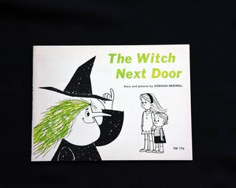 The Witch Next Door Vintage- Children's Scholastic Book-Norman Bridwell-1965-TW776