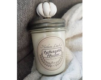 Soy Candles, Butterscotch Brulee, 8oz, 4oz, Gifts, Scented Candles, Jar Candles, Gifts For Her