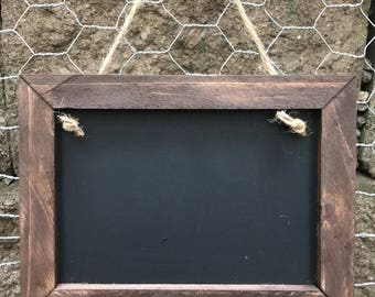 Mini Chalkboard Sign/Ring Bearer Sign/ Framed Chalkboard/ Wedding Sign