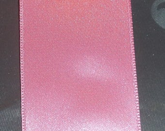 pink satin ribbon double sided width 3.5 cm new great quality