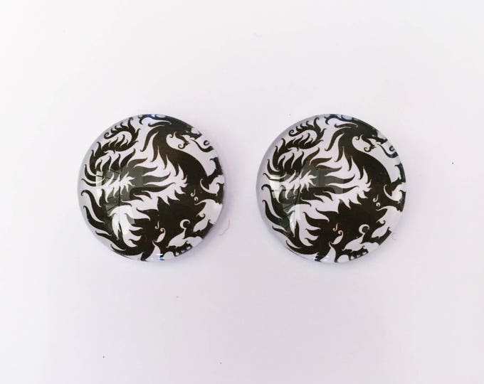 The 'Enter The Dragon' Glass Earring Studs