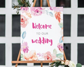 Printable Welcome Sign/ Welcome to our wedding sign/ Wedding Sign/ Wedding Printable/ PDF/ Instant download/ Hannah suite #057-08