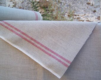 LINEN RED BANDS