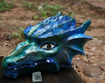 Water Dragon Hand Painted Orgonite
