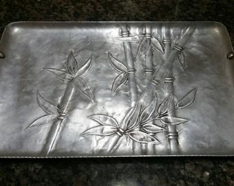 Faux Bamboo Aluminum - Palm Beach Chic - Vintage Serving Tray by Everlast