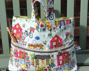 Pretty Village Project Bag