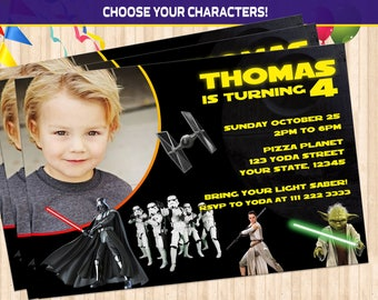 Star Wars Invitation, Printable Invites, Star Wars Birthday invite, any age, Star Wars Party