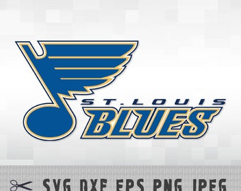 St Louis Blues SVG PNG DXF Logo Layered Vector Cut File Silhouette Studio Cameo Cricut Design Template Stencil Vinyl Decal Transfer Iron on