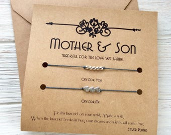 Mother And Son Gifts Mother Son Gift For Son Birthday Gift For Mom Gift Son Wish Bracelet Mother Son Matching Mom Son Matching Mom Son Gift