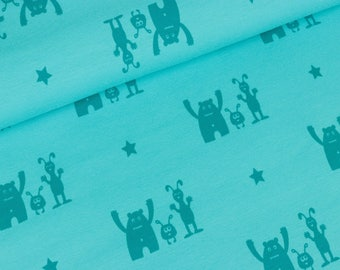 Sweat best buddy turquoise teal colour mix (22,50 EUR / meter)