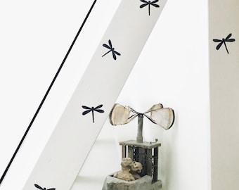 Wall sticker dragonfly, Wall decals nursery, Wall stickers nursery, Nursery wall sticker, Wall stickers,Blue nursery decals,Blue wall decals