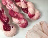 Lipstick and Lingerie Hand Dyed Yarn