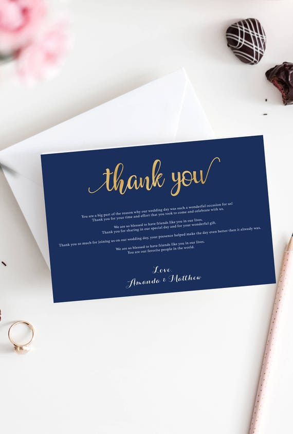 navy wedding thank you cards