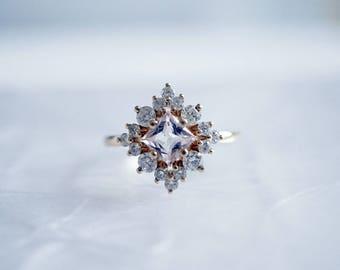Aphrodite Morganite Diamond Ring