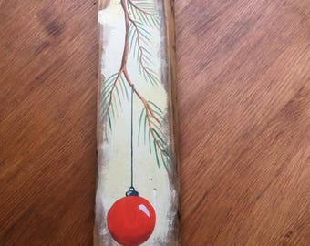 Christmas decoration hand painted on pallet wood