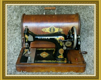 Singer 128K | Antique Sewing Machine | UK 1916 | Macchina da Cucire | Maquina de Coser | Machine a Coudre | Hand Crank| FREE Shipping*
