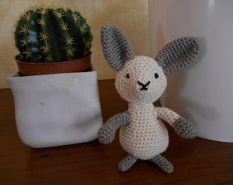 Bunny amigurumi beige and Brown